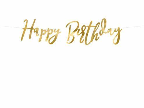 Girlande Happy Birthday Gold