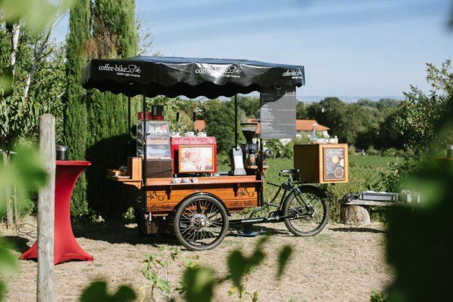 Coffeebike in den Weinbergen