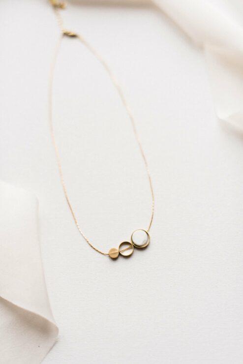 Halskette Howlite Circle