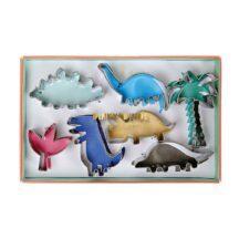 verschiedene Keksausstecher in Dinosaurier Form