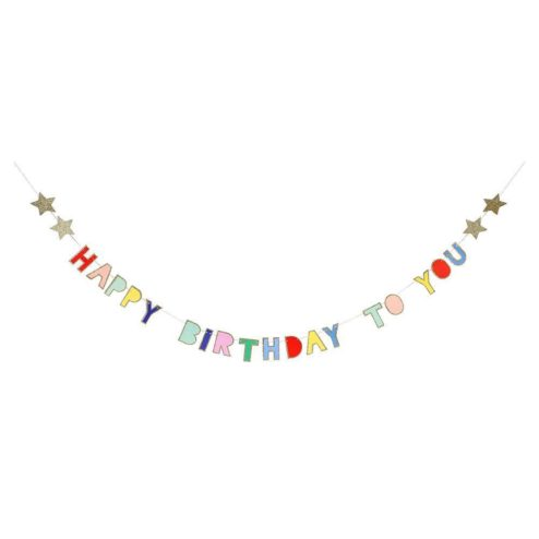Mini Girlande Happy Birthday Multicolor