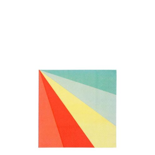 Papierserviette in Regenbogenfarben