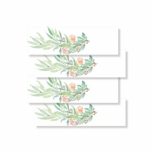 Serviettenbanderole Taufe floral