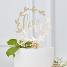 Cake Topper Love Gold Acryl