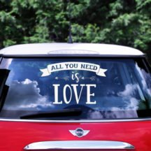 Aufkleber Hochzeitsauto 'All you need is love'