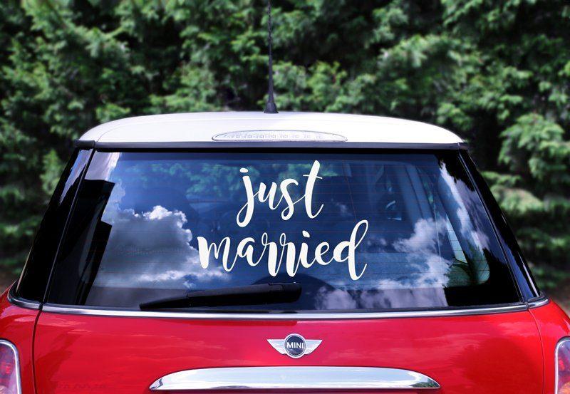 Just zum ausdrucken married hochzeitsauto Hochzeitsauto Just