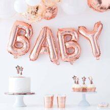 Folienballon Set Baby roségold
