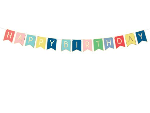 Girlande Happy Birthday Variante III
