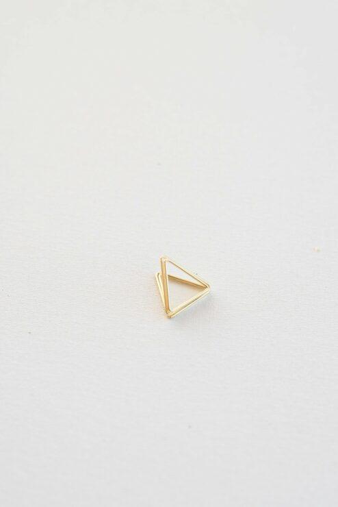 Platzkartenhalter Triangles Gold