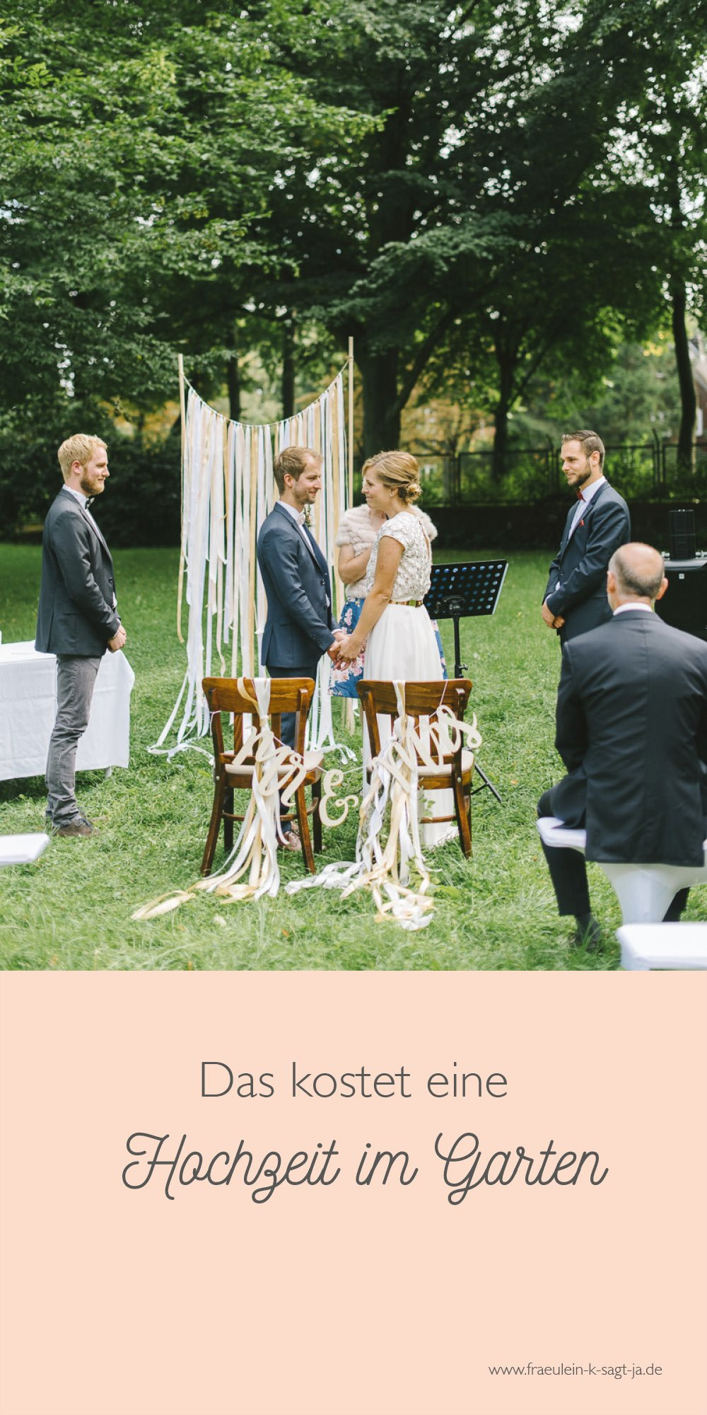 Kosten einer selbst organisierten Hochzeit im Garten