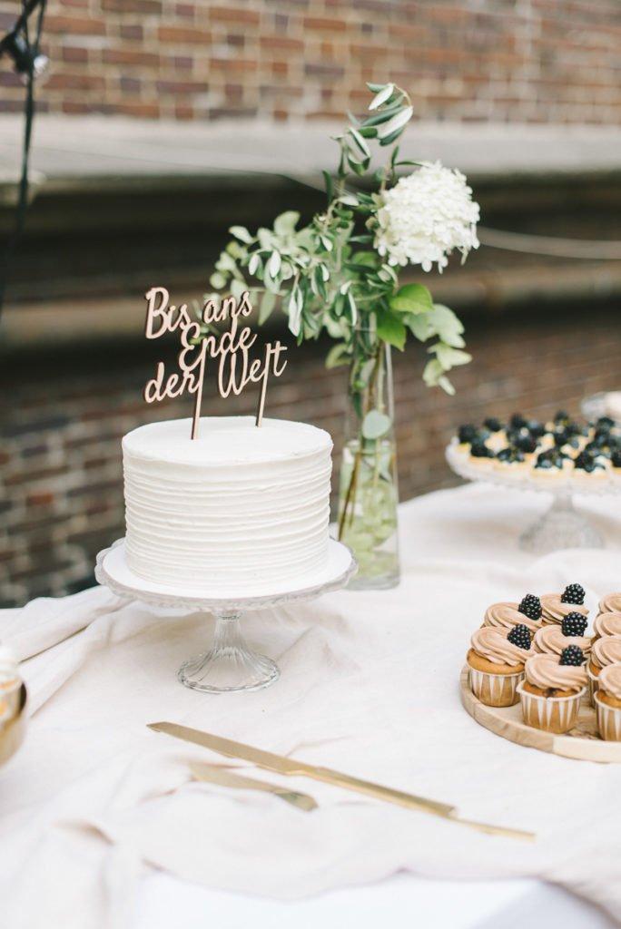 Cake Topper bis ans Ende der Welt