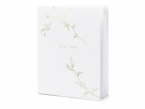 Gästebuch weiß mit goldenem Design