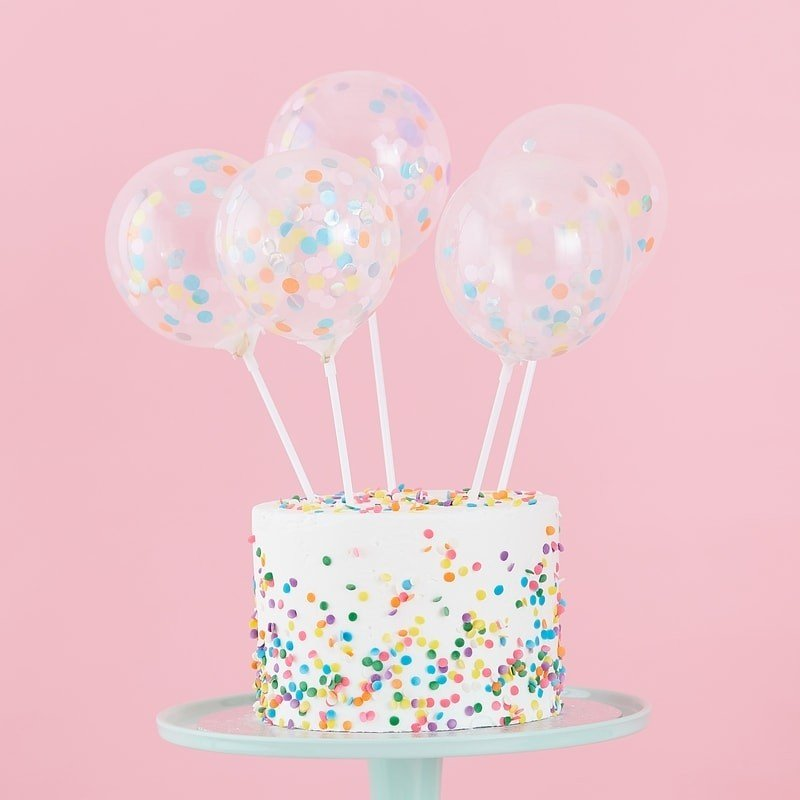 Mini Cake Topper Konfetti Ballons Kit