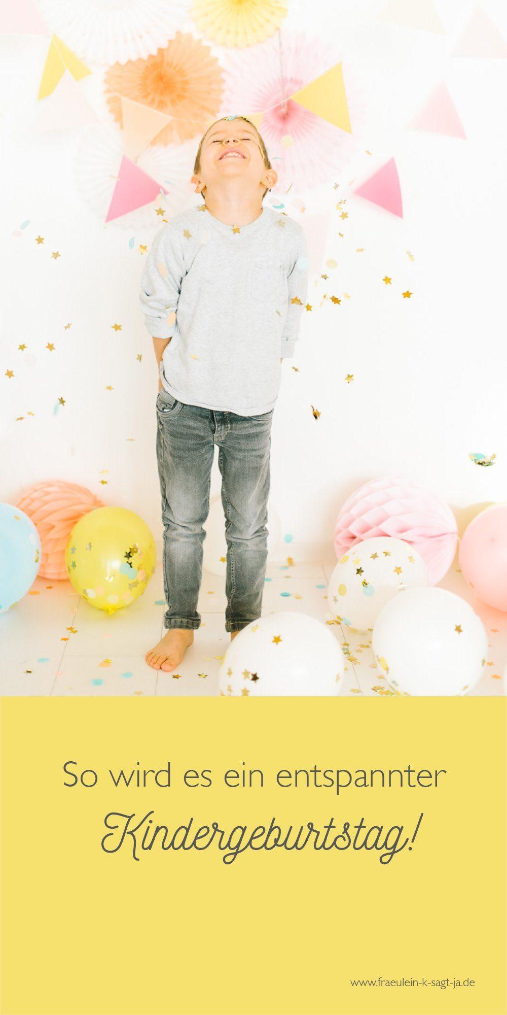 5 Tipps für einen wirklich entspannten Kindergeburtstag