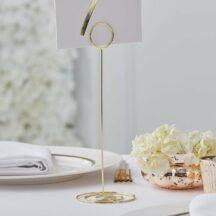 Tischnummernhalter Gold Circle