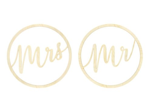 Mr and Mrs Schriftzug Holz