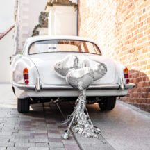 Auto Dekorations-Kit Herzen silber