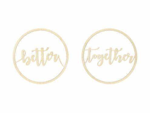 Better Together Schriftzug Holz