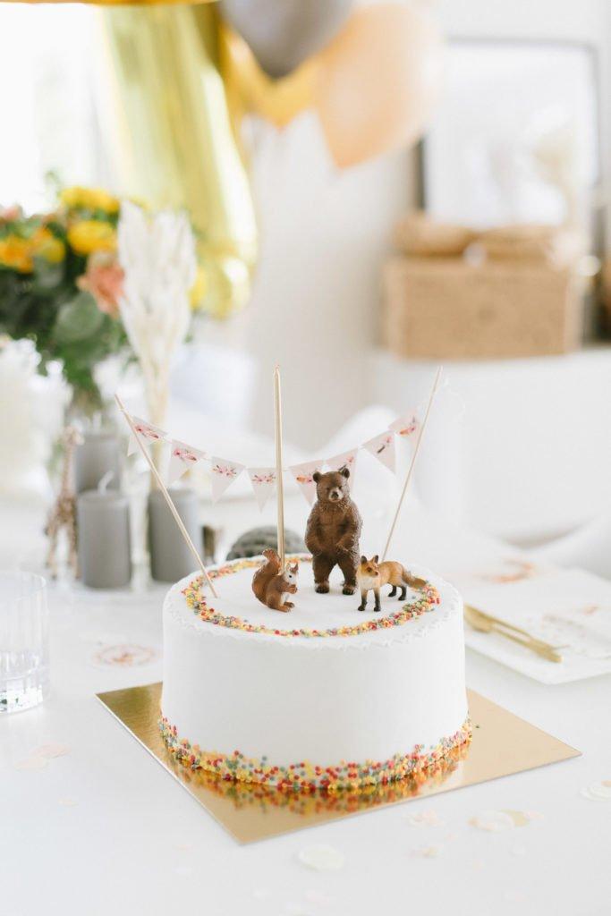 Kindergeburtstag Torte mit Tieren