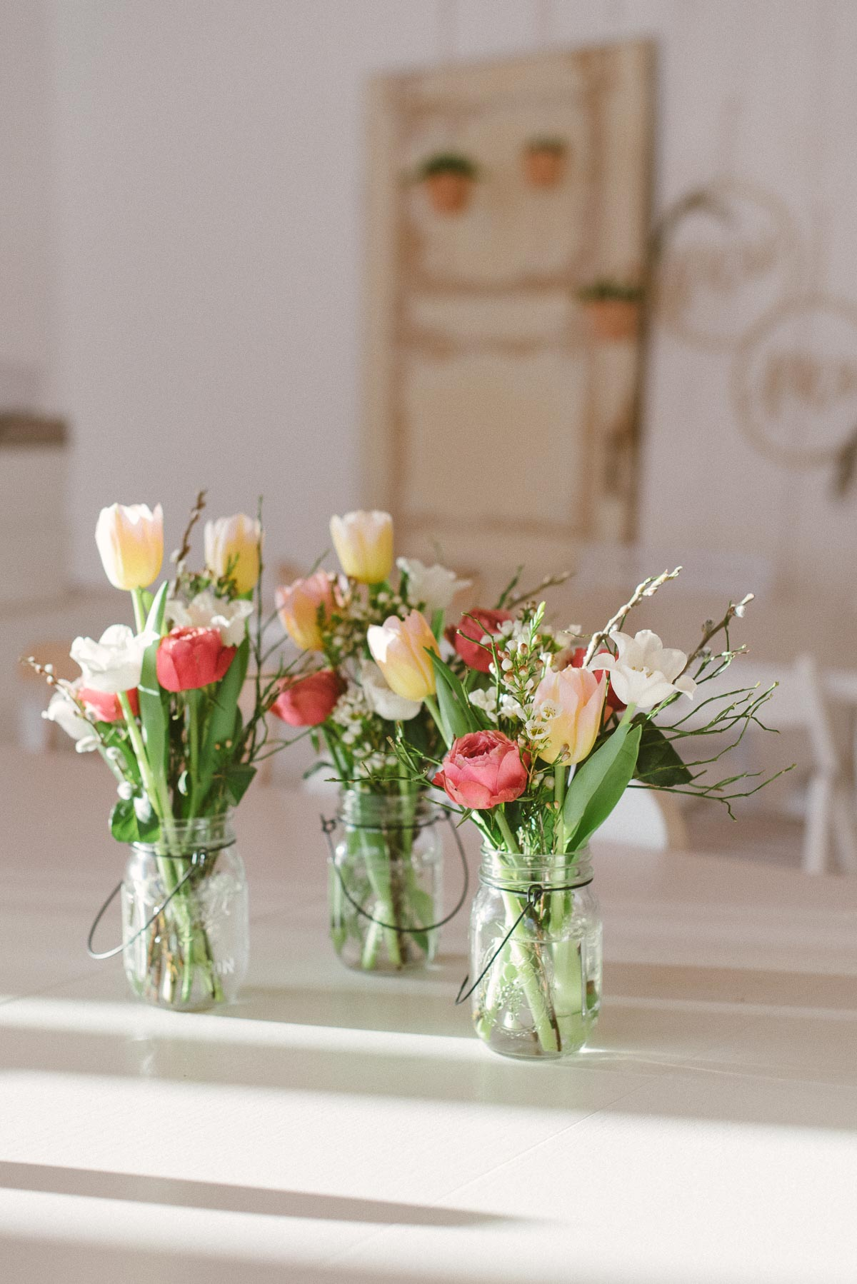 Tulpenstrauß für die Tischdeko