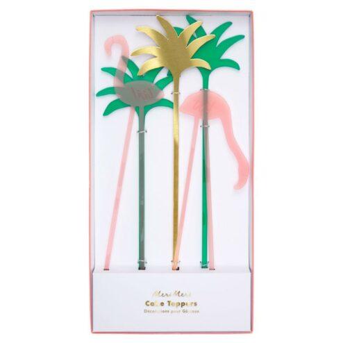 Cake Topper Flamingo Acryl