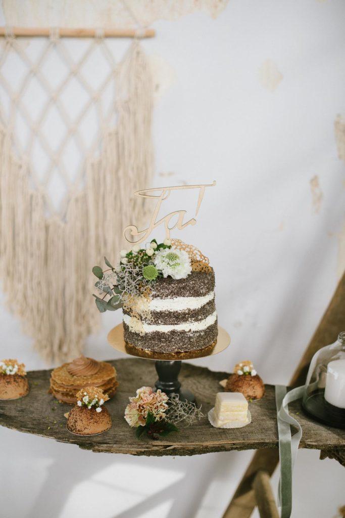 Mini Hochzeitstorte mit Caketopper