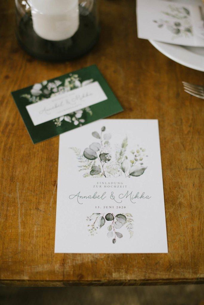 Einladung Hochzeit Eukalyptus