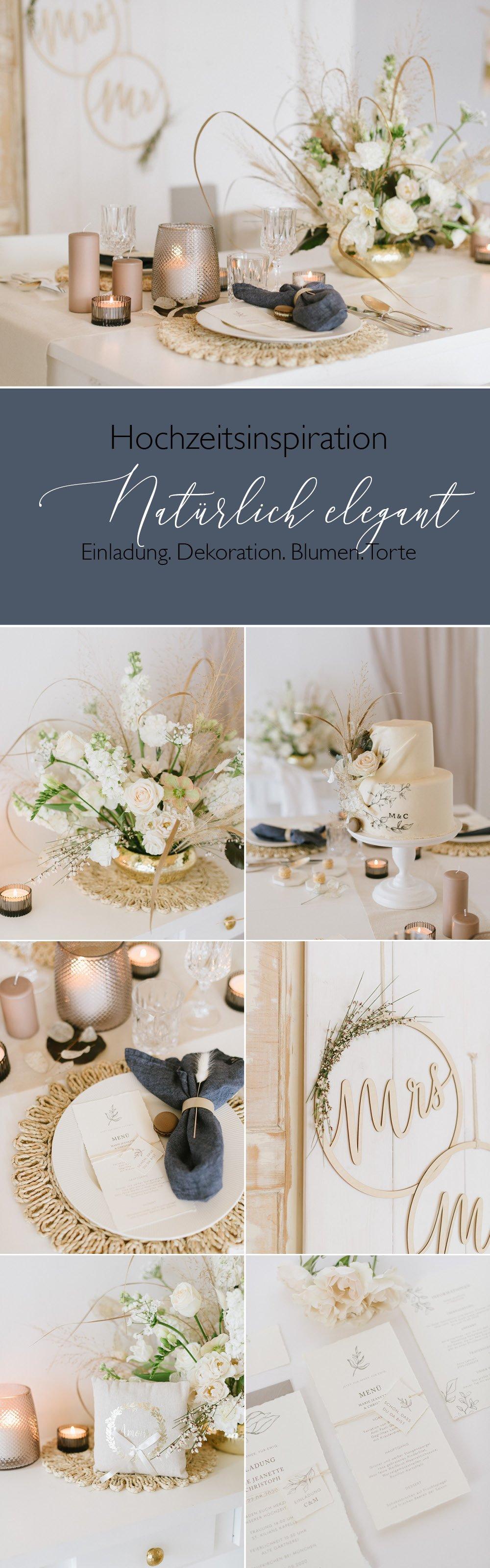 Hochzeitsdekoration mit natürlicher Eleganz und Trockenblumen