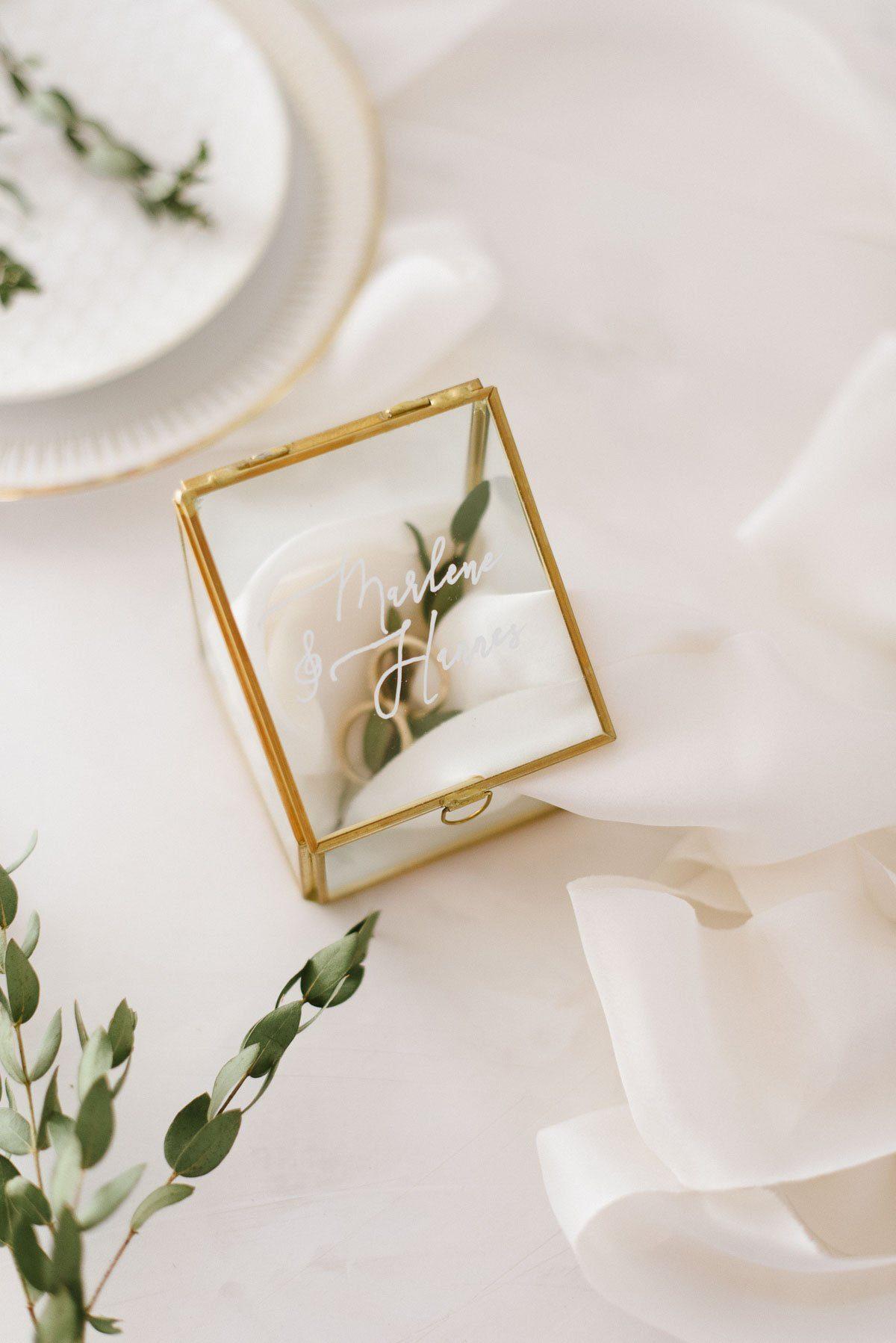 Ringkästchen aus Glas selbst beschriften