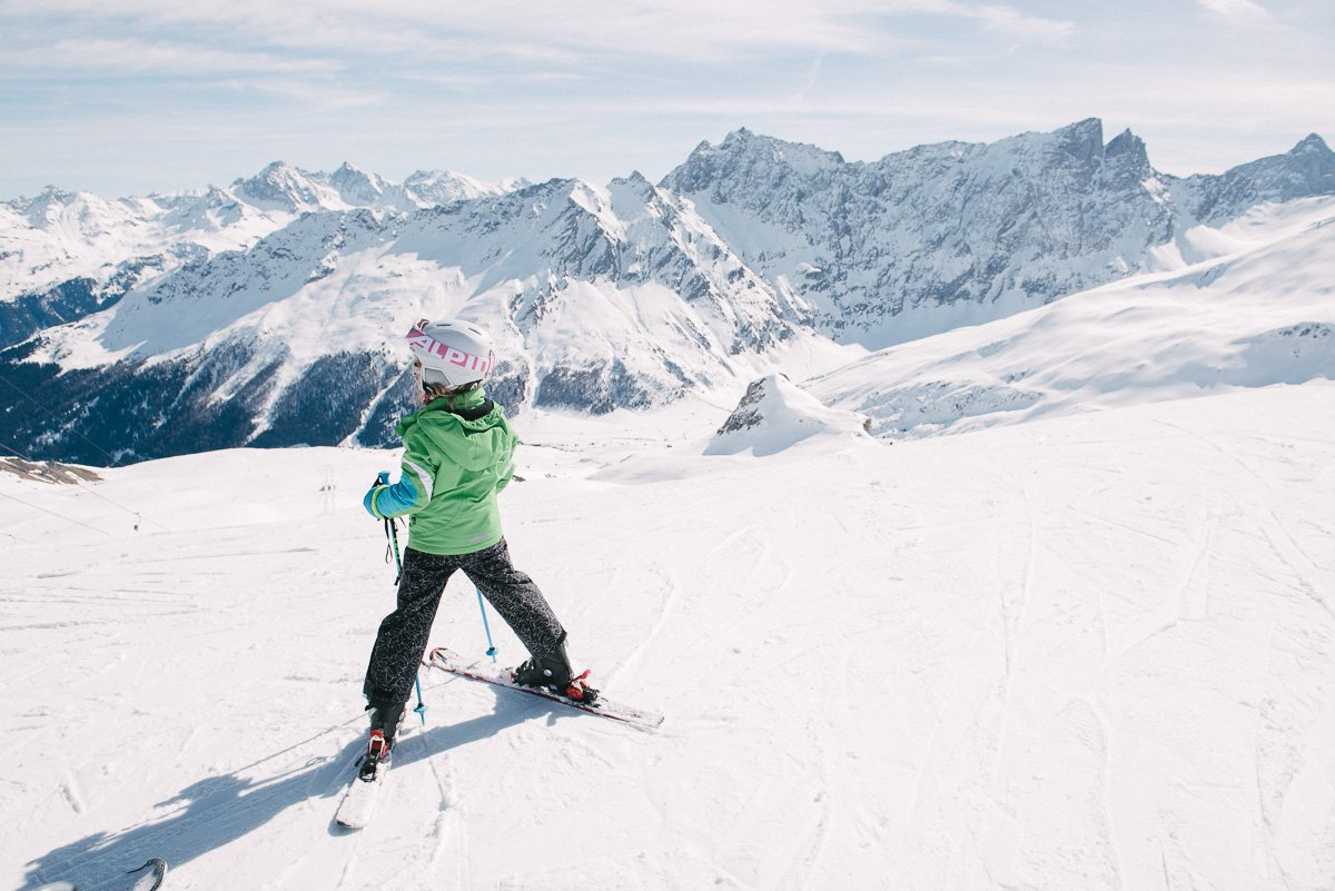 Skifahren Sanvognin