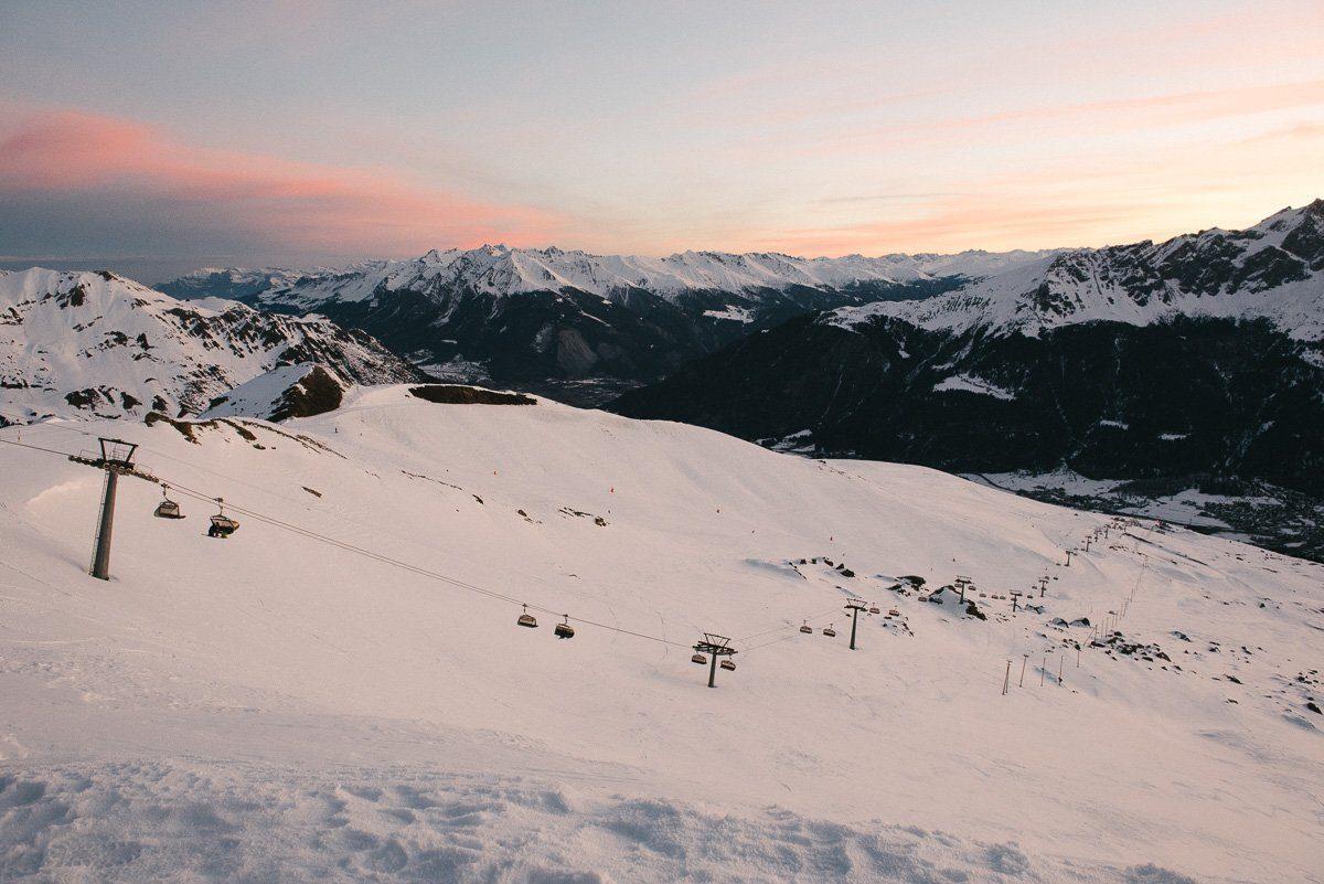 Skifahren Savognin