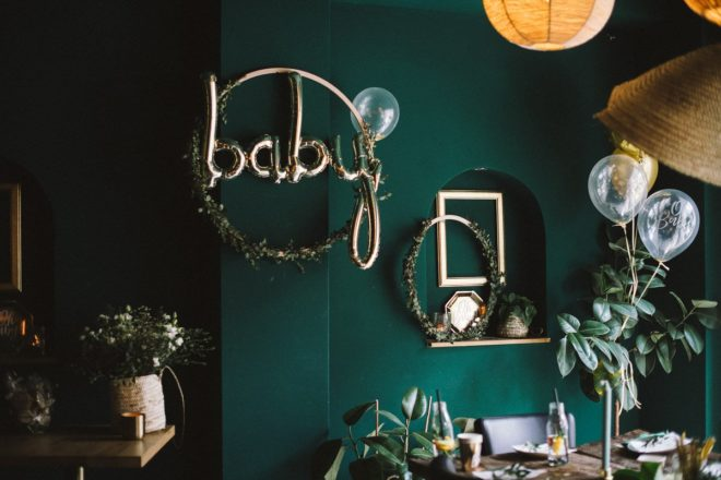Babyparty im cooles Greenery Style