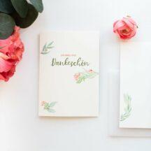 Danksagungskarte Floral