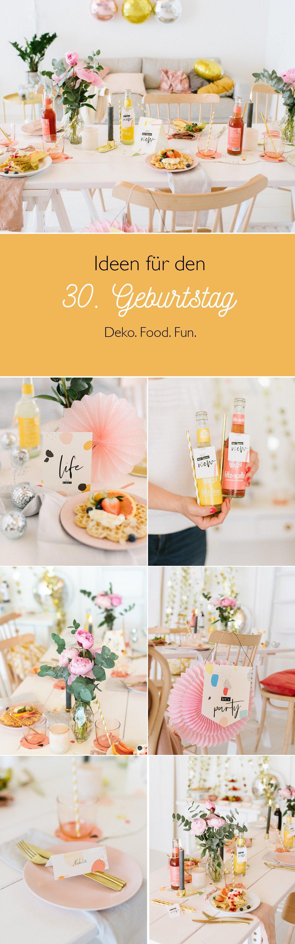 Deko Ideen 30. Geburtstag