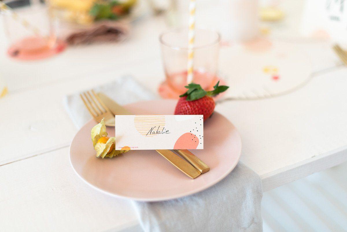 Süßes Namensschild für die Gäste