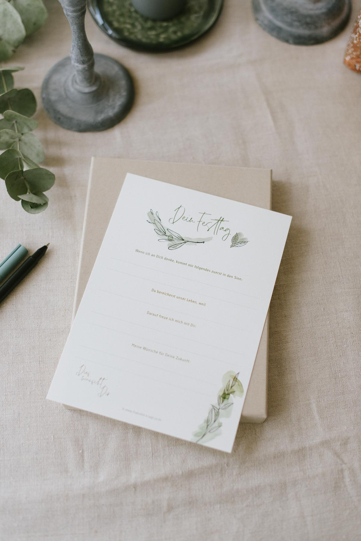 Gästebuch Karten Box für die Konfirmation