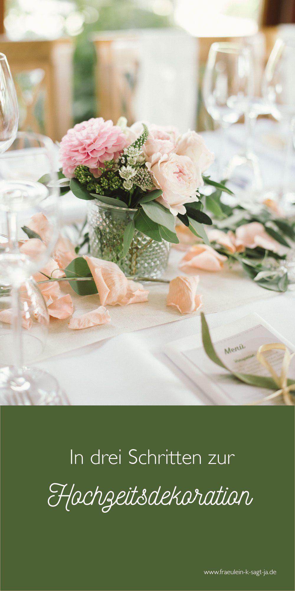 Drei Schritte Entwicklung Hochzeitsdekoration