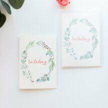 Einladungskarte Floral, 5 Stück