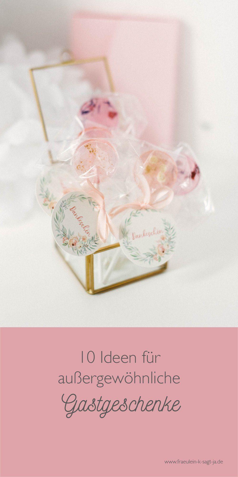 Mehr als 10 kreative Ideen für Gastgeschenke einer Hochzeit