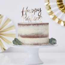 Cake Topper Happy Pushing Gold