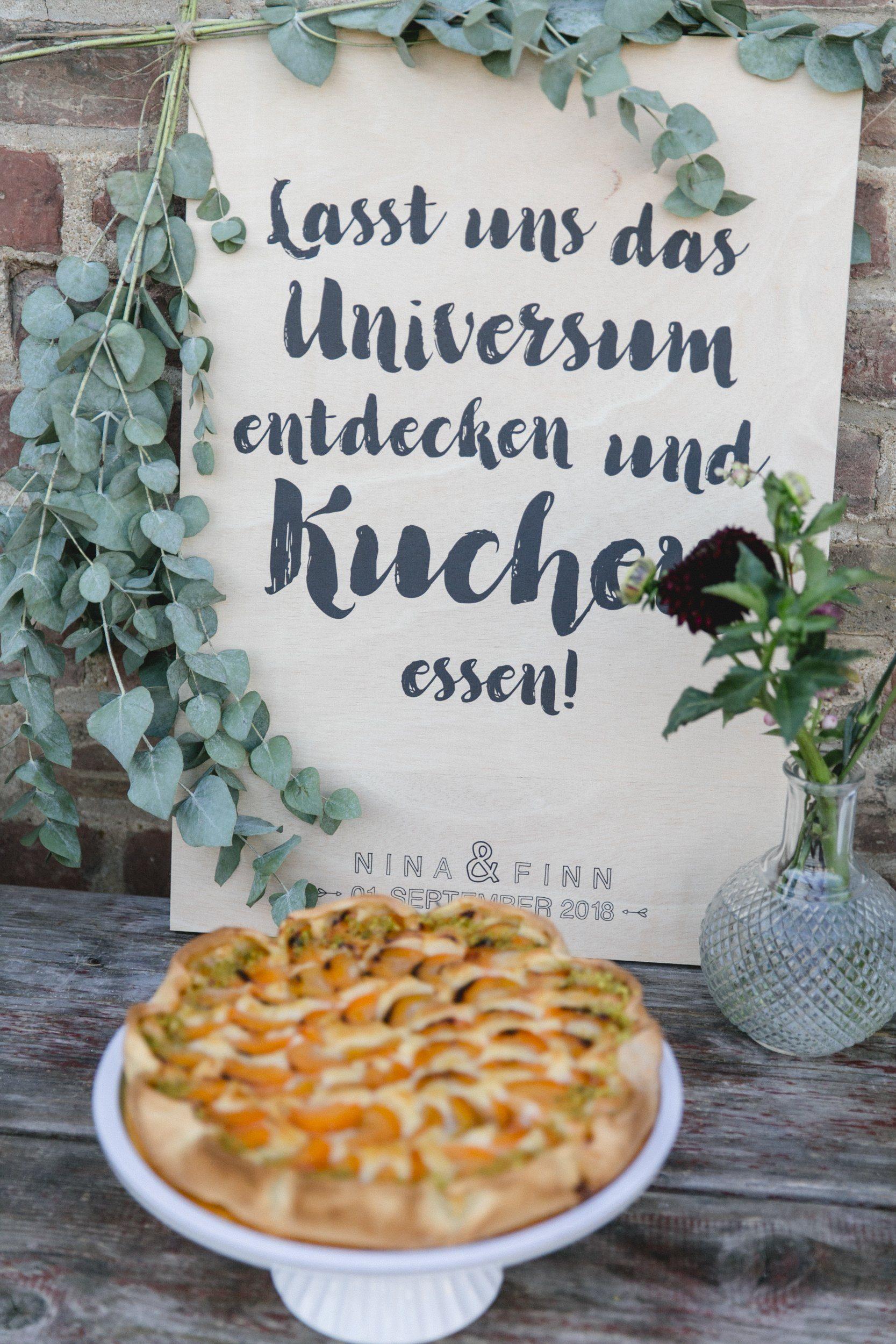 Kuchenbuffet Schild Kalligrafie