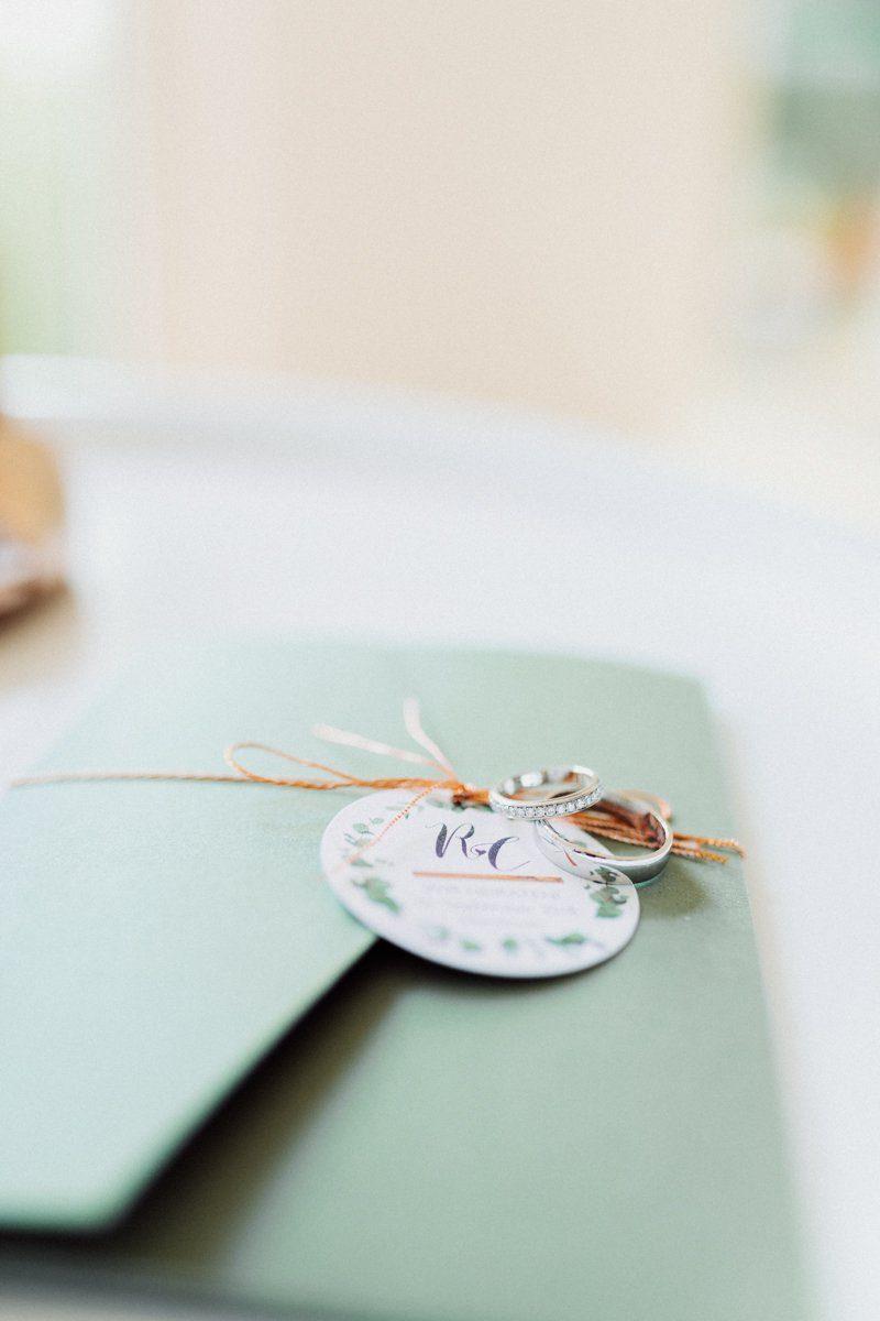 Detail an der Hochzeitseinladung