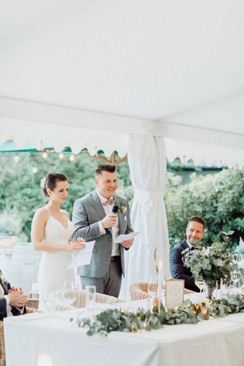 Ansprache des Brautpaares