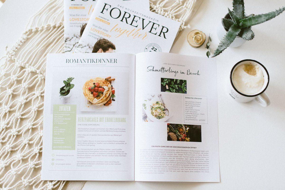 Hochzeitszeitung inkl. Layout für Rezepte