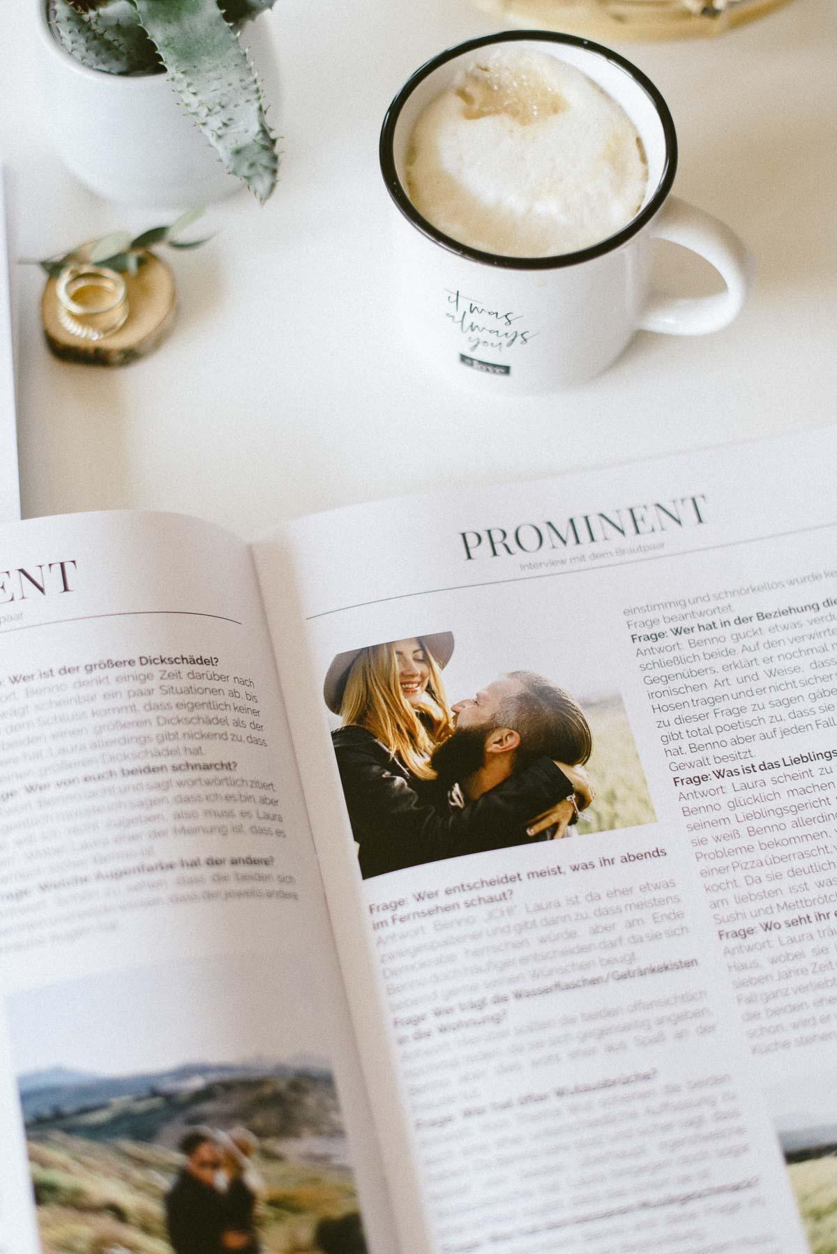 Moderne Hochzeitszeitung Vorlage Anleitung