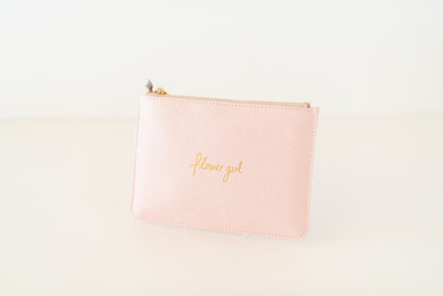 Mini Clutch 'Flower Girl' metallic roségold
