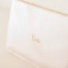 Clutch Bride metallic weiß