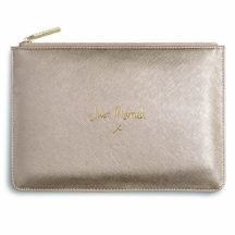 Clutch 'Just married' metallic gold