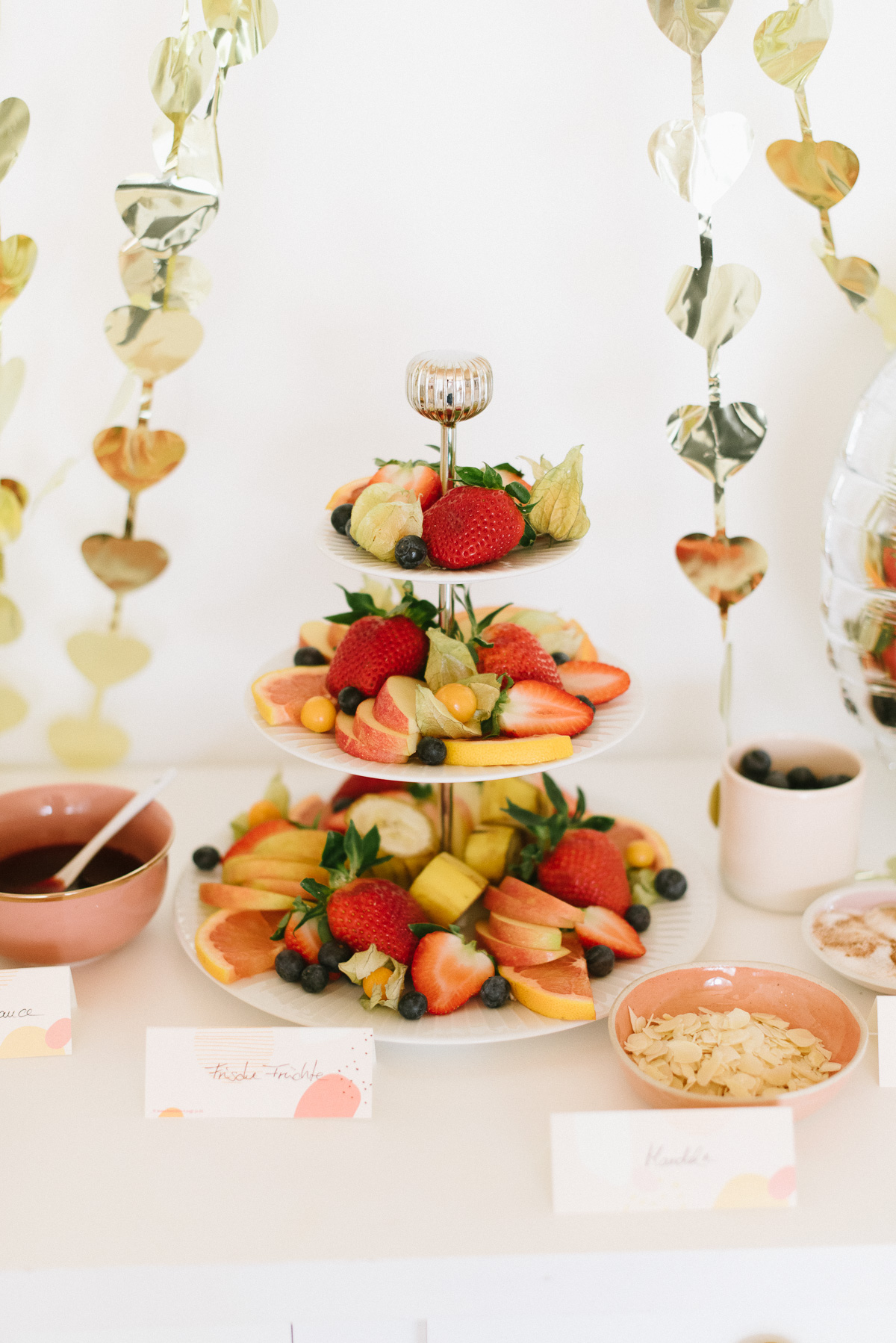 Waffel bar mit frischen Früchten