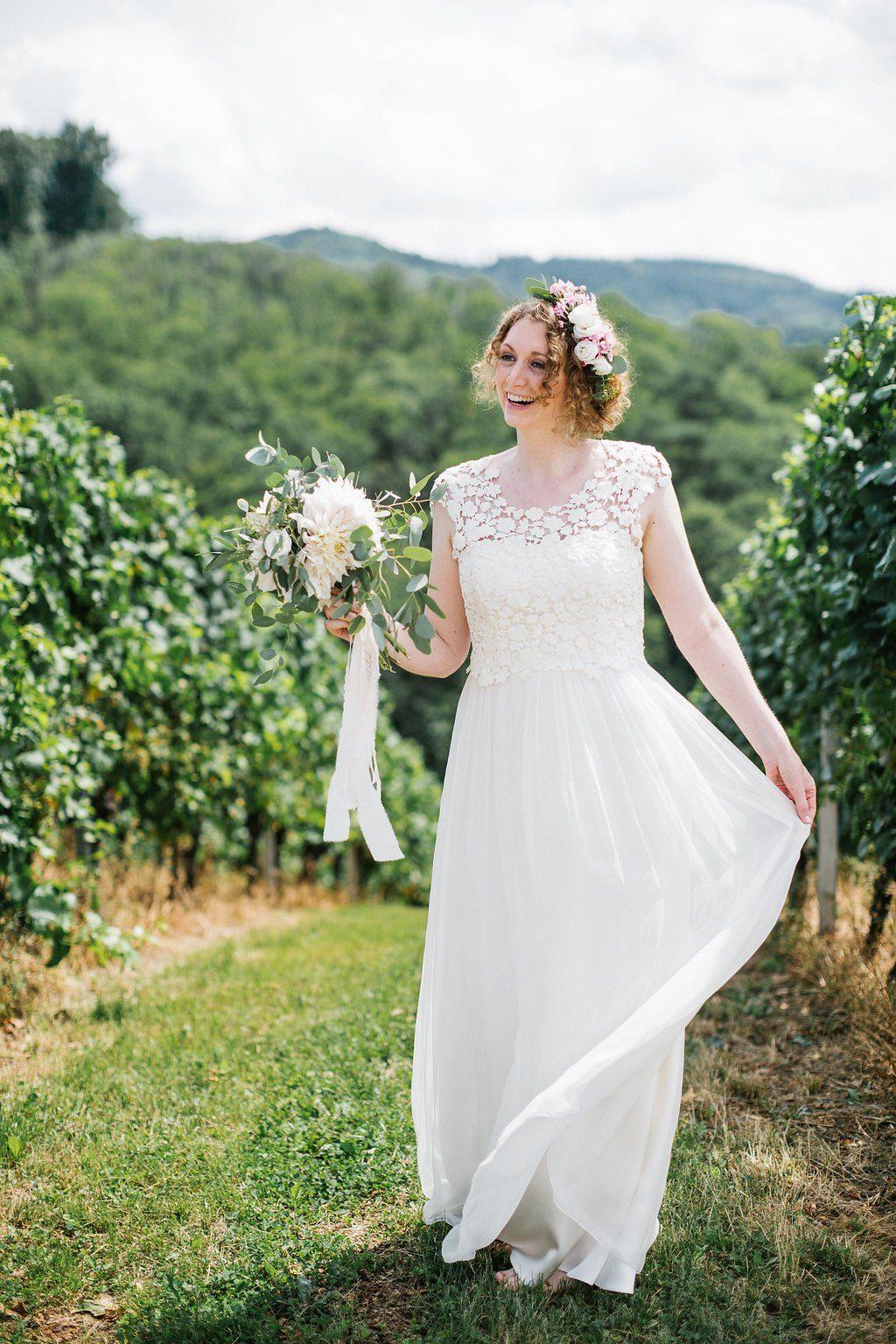 Kisui Brautkleid mit Spitze
